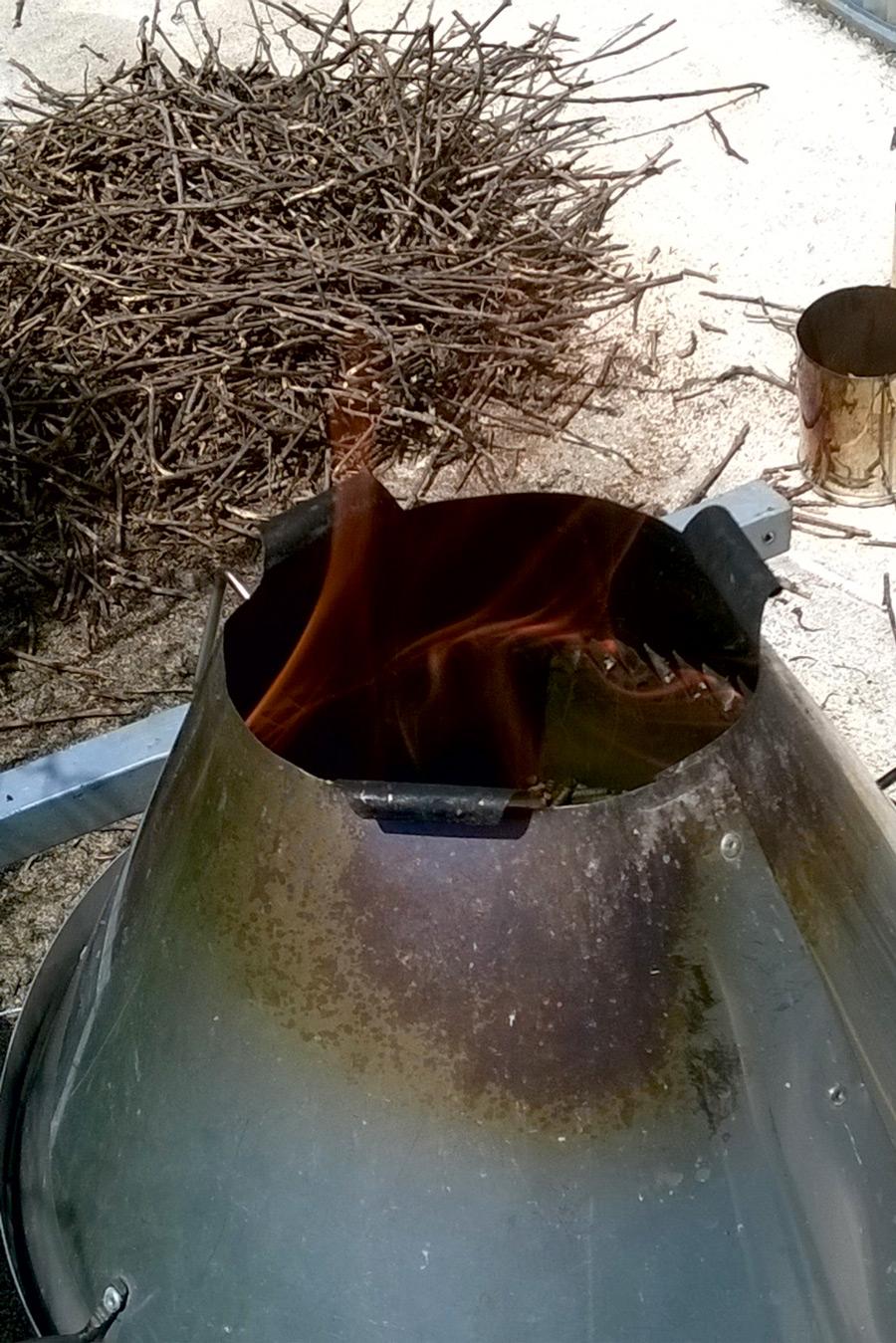 Stufa pirolitica e potatura